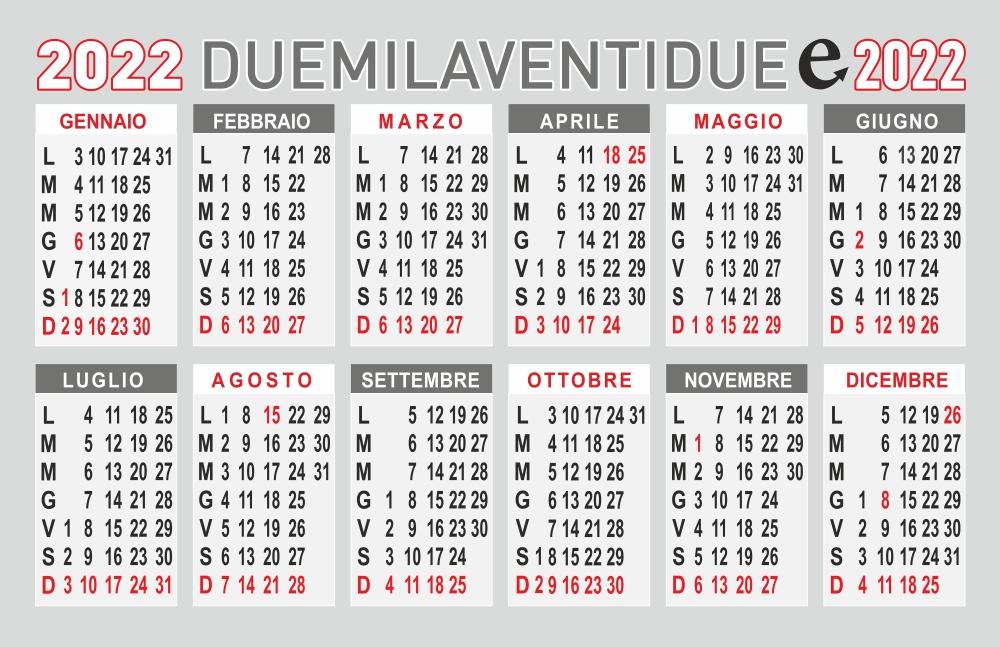 calendario 2020 annuale