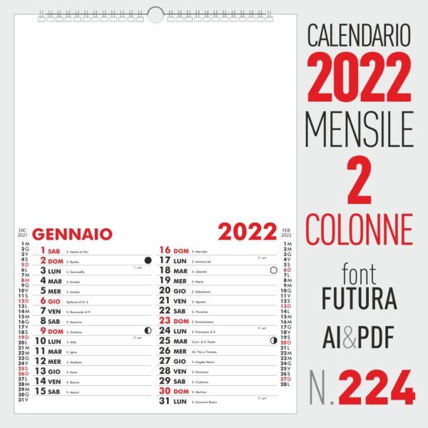 CALENDARIO 2022 MENSILE